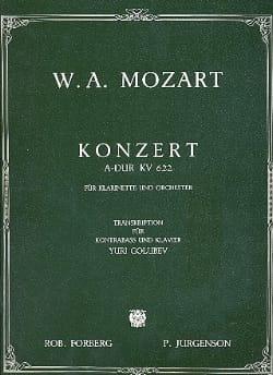 Konzert A-Dur KV 622 MOZART Partition Contrebasse - laflutedepan