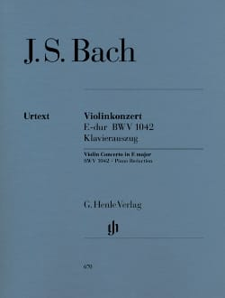 BACH - Violin Concerto in E major BWV 1042 - Sheet Music - di-arezzo.com