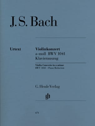 BACH - Violin Concerto in A minor BWV 1041 - Sheet Music - di-arezzo.com