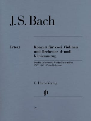 BACH - Concerto in D minor BWV 1043 for 2 violins and orchestra Double concerto - Sheet Music - di-arezzo.com