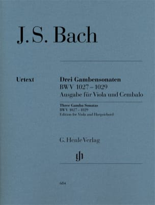 BACH - Three sonatas for viola da gamba and harpsichord BWV 1027-1029 - Sheet Music - di-arezzo.com