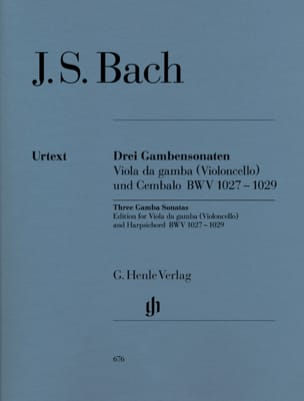 BACH - Three sonatas for viola da gamba BWV 1027-1029 - Sheet Music - di-arezzo.co.uk