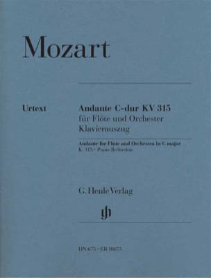 MOZART - Andante in C Major KV 315 - Partition - di-arezzo.co.uk