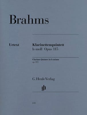 BRAHMS - Quintet with clarinet in B minor op. 115 - Sheet Music - di-arezzo.co.uk