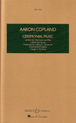 Aaron Copland - Ceremonial Music - Partition - di-arezzo.co.uk