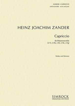 Capriccio Für Bläserensemble - Dixtuor A Vents - laflutedepan.com
