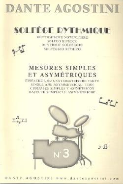Dante Agostini - Solfège rythmique – Cahier n° 3 - Partition - di-arezzo.fr