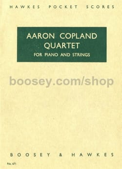 Quartet for piano and strings - Score COPLAND Partition laflutedepan