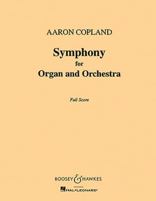 Symphony for organ and orch. - Score COPLAND Partition laflutedepan