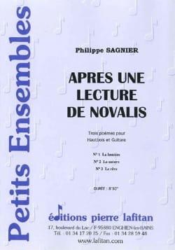 Philippe Sagnier - Après une lecture de Novalis - Partition - di-arezzo.fr