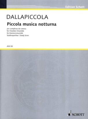 Luigi Dallapiccola - Piccola musica notturna (Version de chambre) - Partitur - Partition - di-arezzo.fr