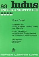 Franz Danzi - Sextett Es-Dur - Partition - di-arezzo.fr