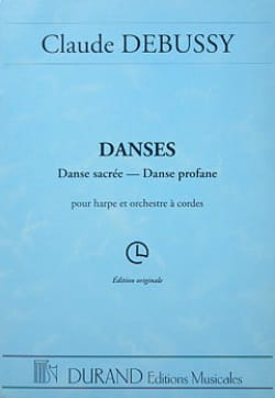 DEBUSSY - Dances - harp and string orchestra - Sheet Music - di-arezzo.co.uk