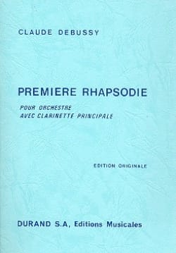Claude Debussy - Première Rhapsodie – Conducteur - Partition - di-arezzo.fr