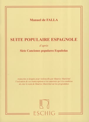 DE FALLA - Spanish popular suite - Sheet Music - di-arezzo.co.uk