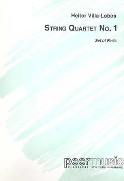 Heitor Villa-Lobos - Quatuor à cordes n° 1 – Parties - Partition - di-arezzo.fr