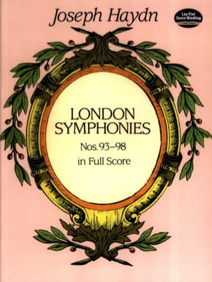 London Symphonies N°93 à 98 - Full Score HAYDN Partition laflutedepan