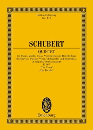 SCHUBERT - Quintett A-Dur The MD667 - Trout - Sheet Music - di-arezzo.com