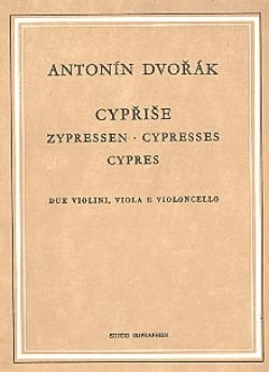 Les Cyprès -Partitur DVORAK Partition Petit format - laflutedepan