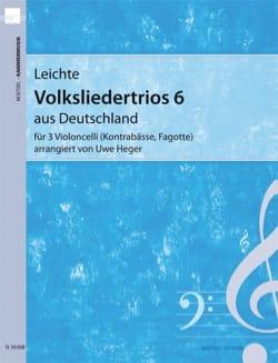 Leichte Volksliedertrios 6 aus Deutschland Uwe Heger laflutedepan
