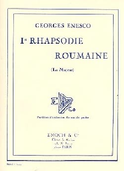 Georges Enesco - Rhapsodie roumaine n° 1 - Partition - di-arezzo.fr