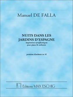 Manuel de Falla - Nuits dans les jardins d'Espagne – Conducteur - Partition - di-arezzo.fr