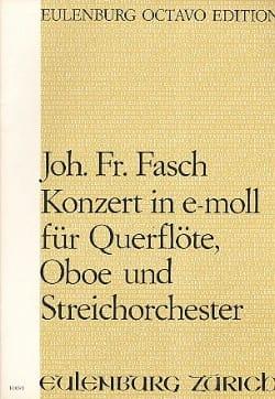 Johann Friedrich Fasch - Konzert e-moll für Querflöte, Oboe u. Streichorchester - Partition - di-arezzo.fr