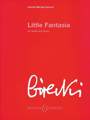 Little Fantasia op. 73 - GORECKI - Partition - laflutedepan.com