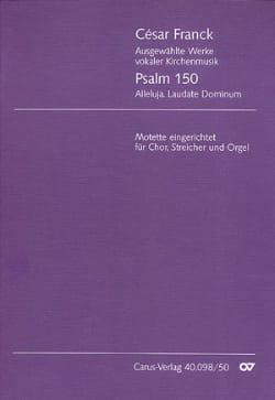 Psalm 150 - Chor, Streicher, Orgel - Score César Franck laflutedepan