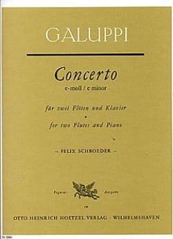 Concerto e-moll - 2 Flöten, Violinen, Viola, BC - Partitur - laflutedepan.com