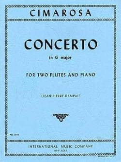 Concerto in G major - 2 Flutes piano - CIMAROSA - laflutedepan.com