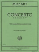 MOZART - Concerto in B flat major KV 191 - Bassoon piano - Sheet Music - di-arezzo.co.uk