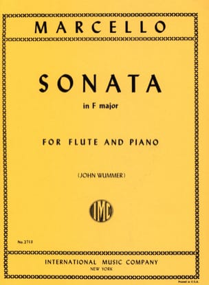 Benedetto Marcello - Sonata in F major - Flute piano - Sheet Music - di-arezzo.co.uk