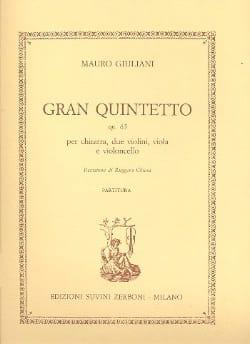 Mauro Giuliani - Gran Quintetto op. 65 – Partitura - Partition - di-arezzo.fr