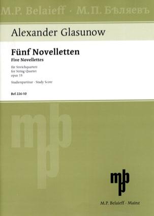 Alexandre Glazounov - 5 Novelletten Opus 15 -partitur - Partition - di-arezzo.fr