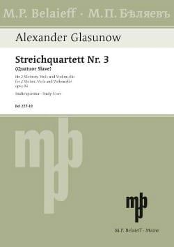 Streichquartett Nr. 3 op. 26 - Partitur laflutedepan