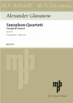 Alexandre Glazounov - Saxophon-Quartett op. 109 – Partitur - Partition - di-arezzo.fr