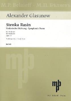 Stenka Rasin op. 13 - Partitur Alexandre Glazounov laflutedepan
