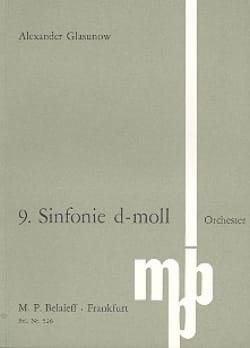 Symphonie Nr. 9 d-moll - Partitur Alexandre Glazounov laflutedepan