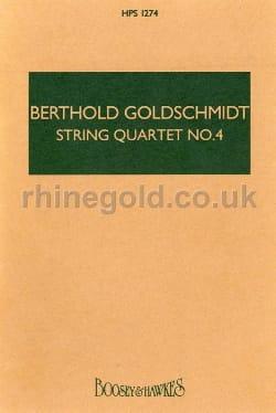 Berthold Goldschmidt - String quartet n° 4 -Score - Partition - di-arezzo.fr
