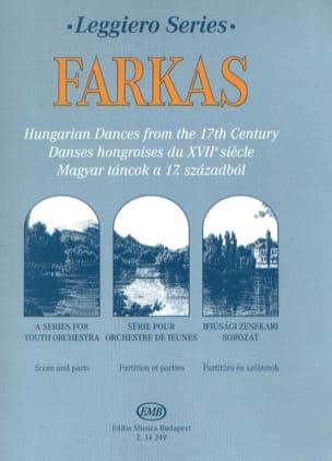 Ferenc Farkas - Danses Hongroises du 17° Siècle - Partition - di-arezzo.fr