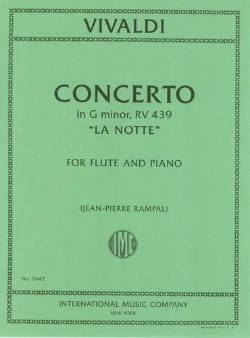 VIVALDI - Concerto in min. The notte - Piano flute - Sheet Music - di-arezzo.co.uk
