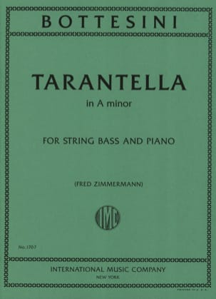 Tarantella in A minor - BOTTESINI - Partition - laflutedepan.com