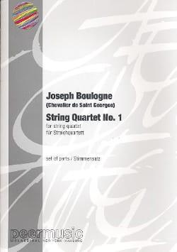 Chevalier de (Joseph Bologn Saint-George - String quartet n° 1 –Parts - Partition - di-arezzo.fr