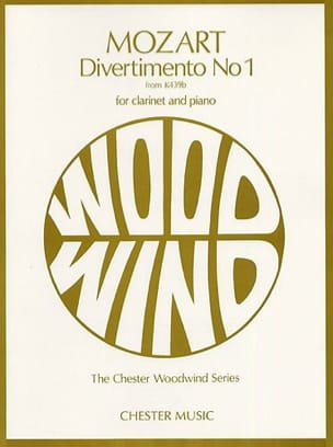 Divertimento n° 1 KV 439b - Clarinet and piano MOZART laflutedepan