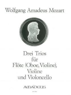 MOZART - 3 Trios – Flöte (Oboe, VIoline) Violine u. Cello - Stimmen - Partition - di-arezzo.fr