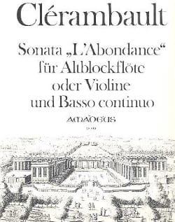 Louis Nicolas Clérambault - Sonata Abundance - AltblockflöteバイオリンとBc - 楽譜 - di-arezzo.jp