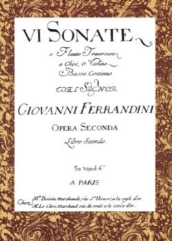 6 Sonate a flauto traversiere o oboe, o violino e basso continuo.. Opera seconda - laflutedepan.com