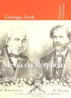 Messa di Requiem - Partitur VERDI Partition laflutedepan