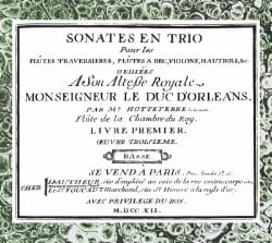 Jacques Hotteterre - Trio sonatas for flutes .. First book, Third piece - Sheet Music - di-arezzo.com